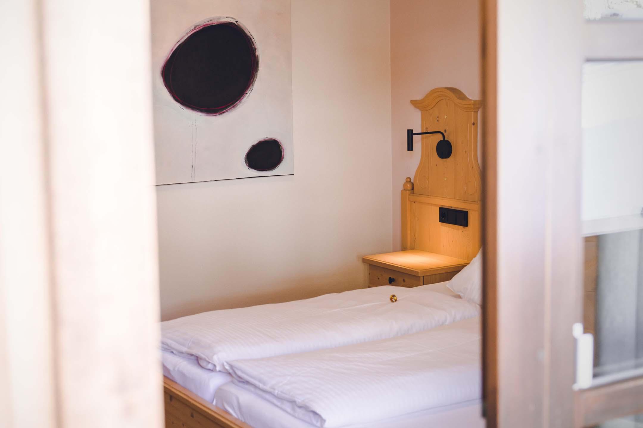 Doppelzimmer Individualist im Hotel Haus Jausern. Ausschlafen und Entspannen