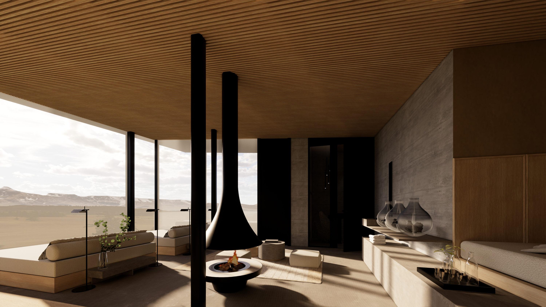 Panorama Ruheraum Haus Jausern, Designer Detail
