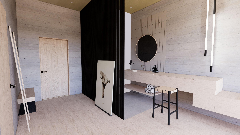 Design Doppelzimmer Haus Jausern, Designrendering Saalbach